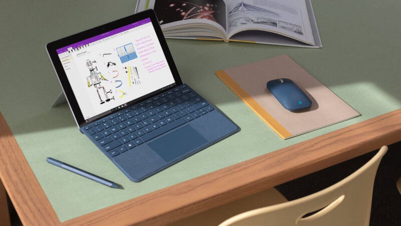 SURFACE GO FEATURE ONE TECH TRAVELLER PRODUCTIVITY
