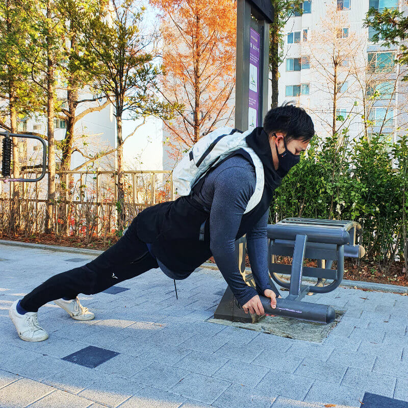 HERIA WORKOUT ONE TECH TRAVELLER COMMANDO PUSHUPS